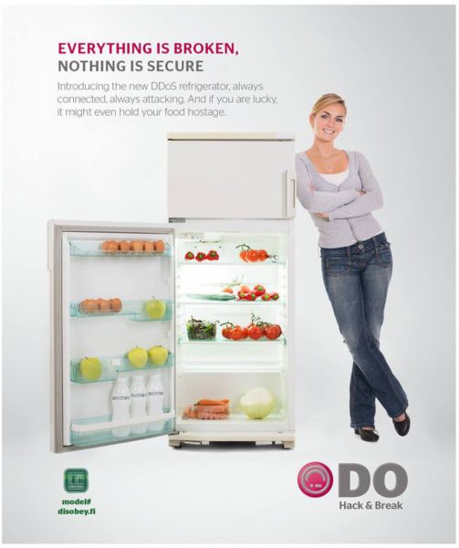 DDoS fridge by disobey.fi