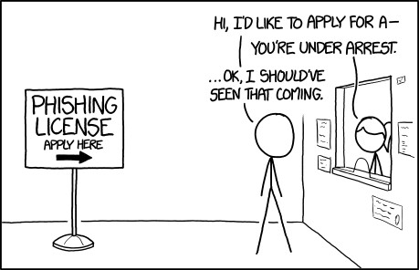 Phishing License, by xkcd.com