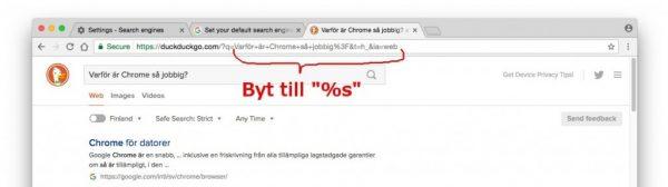 Sökmotor sekretess: Duck Duck Go eller Startpage som default sökmotor i Chrome