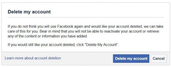 Sidan för att radera sitt Facebook konto: www.facebook.com/help/delete_account#_=_